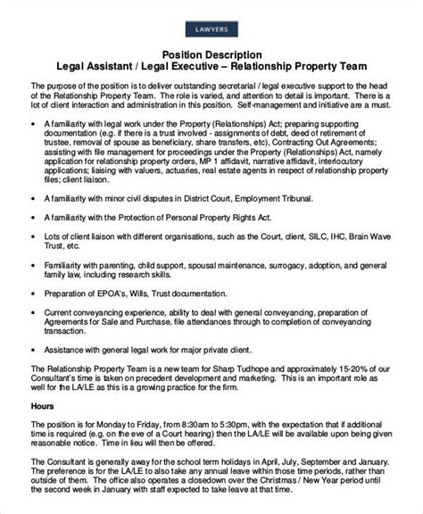 legal description assistant job estate template templates descriptions