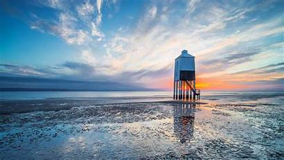 Burnham Lighthouse Sea Somerset Bing Wallpapers Robert