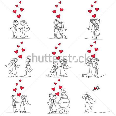 set de bureau fille 9 jeu de doodle de mignon du petit dessin animé mariage image vectorielle vectorhq com