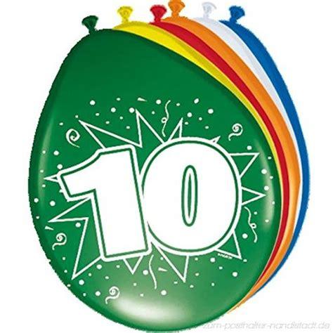 10 geburtstag deko 10 geburtstag luftballon mit zahl 10 ballon zum 10 jubil 228 um deko ballons mit jahreszahl 10