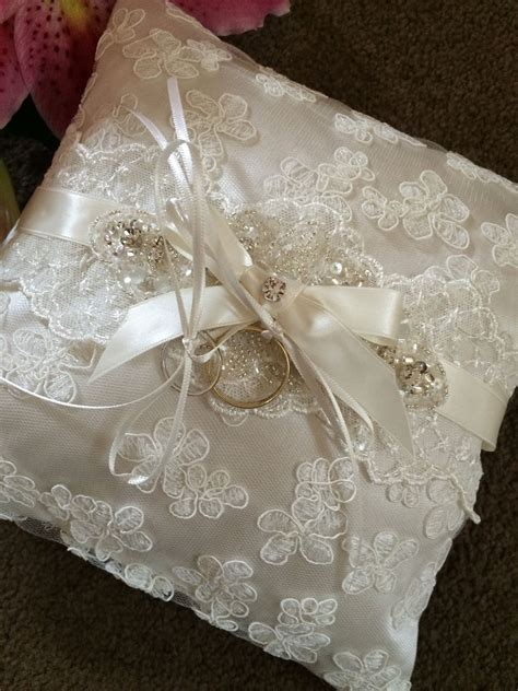 pippa ivory floral lace and silver wedding ring