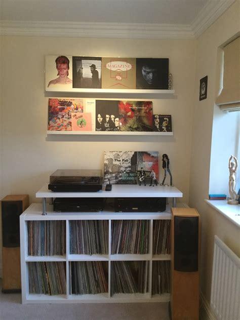 livingroom l meubles de rangement vinyles bidouilles ikea