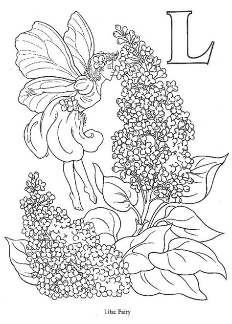 fairy love  smell  lilac flower coloring page coloring sky