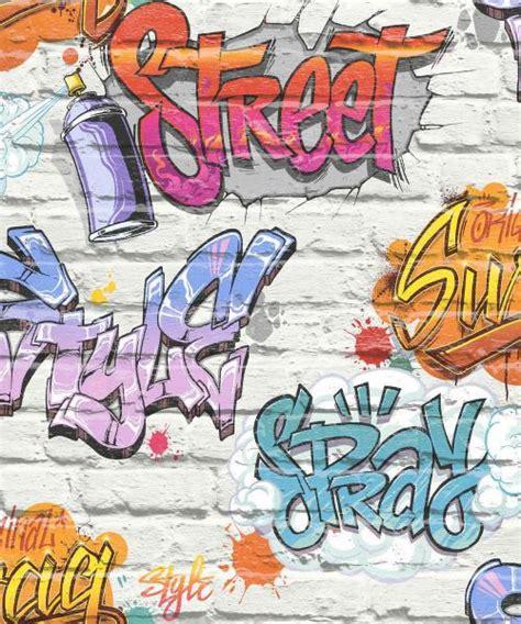 street style graffiti wallpaper white brick wall quality