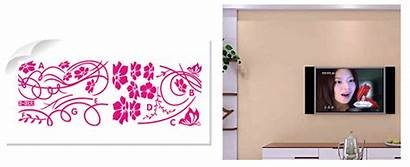 Wall Flower Bedroom Living Paste Position Nice