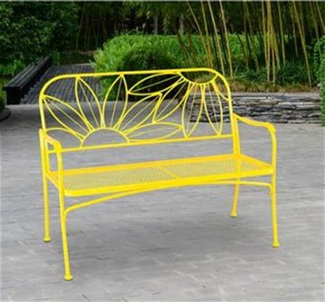 yellow outdoor bench walmart hello outdoor patio yellow bench 69