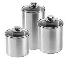stainless steel kitchen canisters sets amco stainless steel canister set 3 cutleryandmore