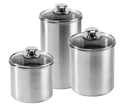 stainless steel kitchen canister set amco stainless steel canister set 3 cutlery and more