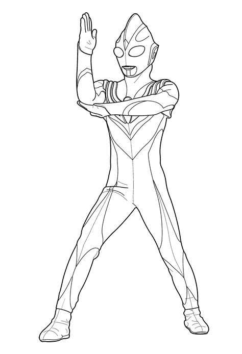 Coloring Ultraman by Ultraman Coloring Pages Getcoloringpages