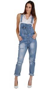 maternity dungarees women 39 s destroyed denim dungarees stonewash
