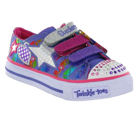 skechers kids light up shoes new girls kids infants skechers twinkle toes light up