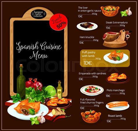 promotion cuisine restaurant vector menu spain traditional cuisine