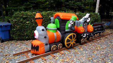 Gemmy Inflatable Halloween Train gemmy inflatable halloween train youtube