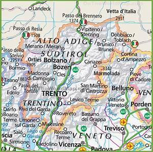 Large map of Trentino-Alto Adige