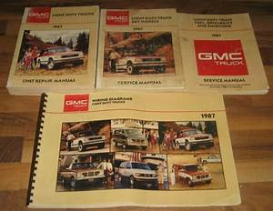 1987 Gmc  Chevy Light Truck  U0026 S  T Service Manual Set Blazer