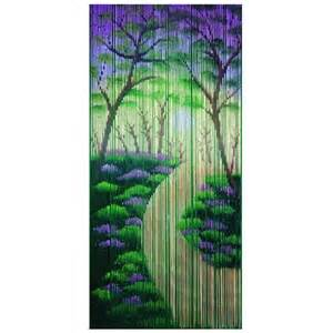 bamboo beaded door curtain forest room divider wall
