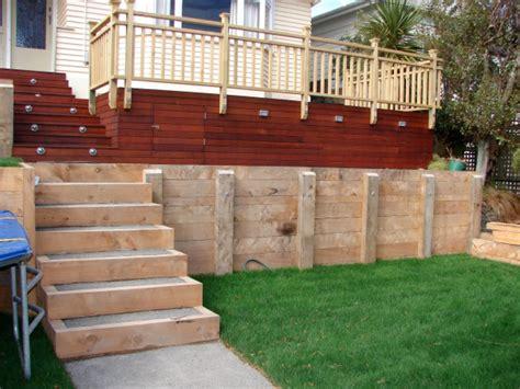 timber retaining wall design wellington kapiti porirua