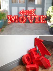 diy light up signs to make pinterest happy vintage With diy marquee letters