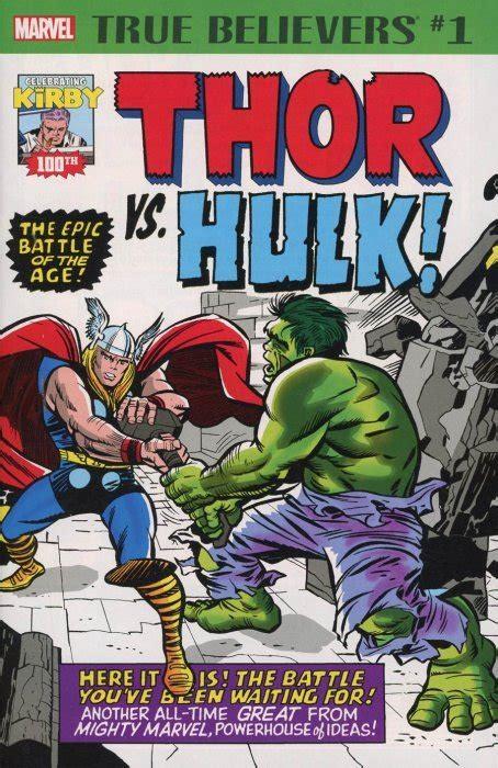 True Believers: Jack Kirby 100th - Thor vs Hulk 1 (Marvel ...