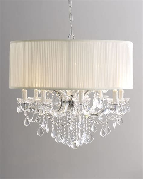 large brentwood chandelier with drum shade