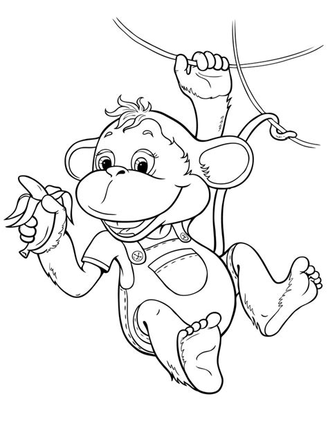 monkey coloring pages   print monkey coloring