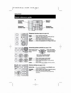 Quick Reference Guide  Answering System Controls