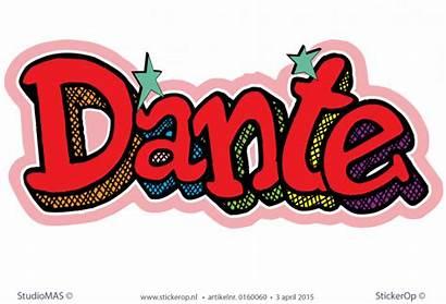 Dante Graffiti Muursticker Stickerop