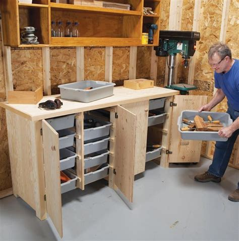 woodworking workshop cabinets plans diy