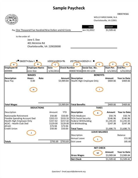 payroll check template 9 free pay stub templates word pdf excel format free premium templates