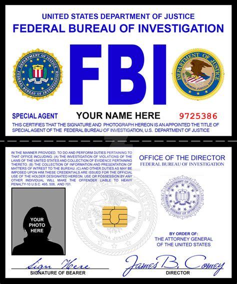 bureau du fbi fbi credentials prop by rustybauder on deviantart
