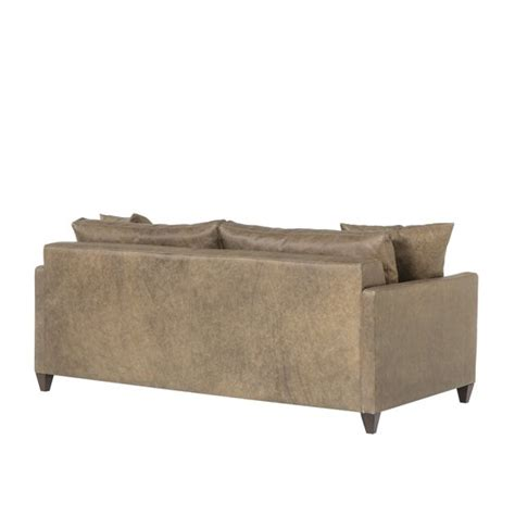 Ian Sofa by Ian Sofa Wooden Tapered Leg Fonzo Bistre Leather