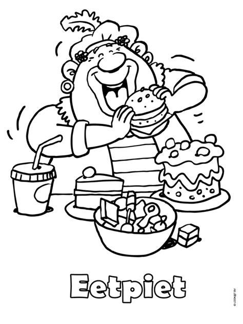 Kleurplaat Sinterklaas Pietje Puk by Www Kleurplaten Nl Voor Iedereen Die Graag Kleurt Is