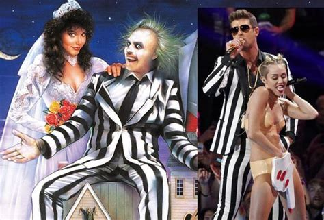 Robin Thicke Meme - separated at birth beetlejuice robin thicke at the mtv vmas performing with miley cyrus