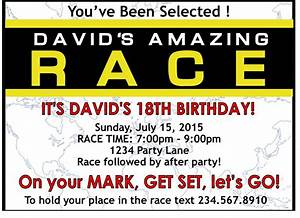 Amazing race party supplies and invitations for Amazing race birthday party templates