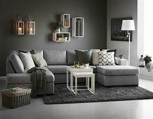 deco salon deco salon gris couleur peinture salon gris With tapis design avec cirage canapé