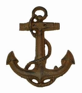 boat anchor wall deco cast iron nautical decor With anchor wall decor