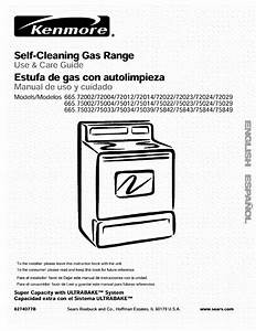 Kenmore Range 665 72002 User Guide