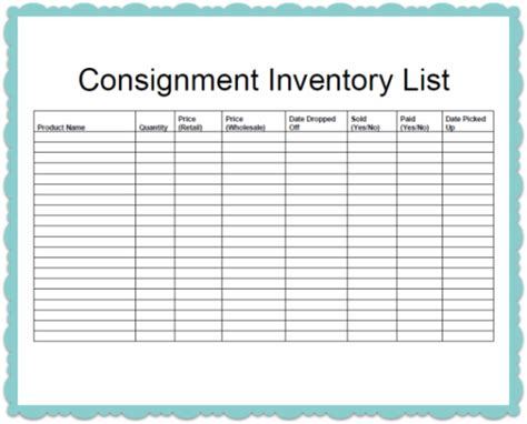 Clothing Consignment Agreement Template Costumepartyrun