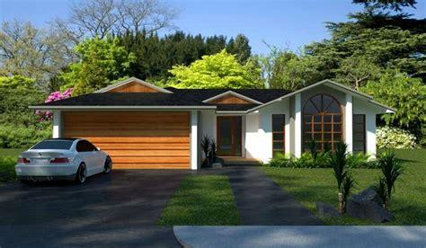 hillside  bedroom  living areas double garage house plans  sale ebay