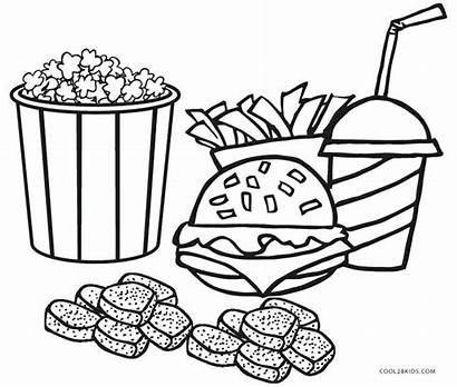 Fries French Coloring Pages Printable Getcolorings