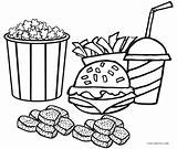 Fries French Coloring Printable Getcolorings sketch template
