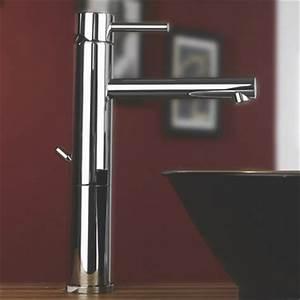 robinetterie design mitigeur rehausse pour vasque a poser With robinet haut pour vasque a poser