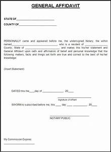 affidavit form template free word templates affidavit With template for an affidavit