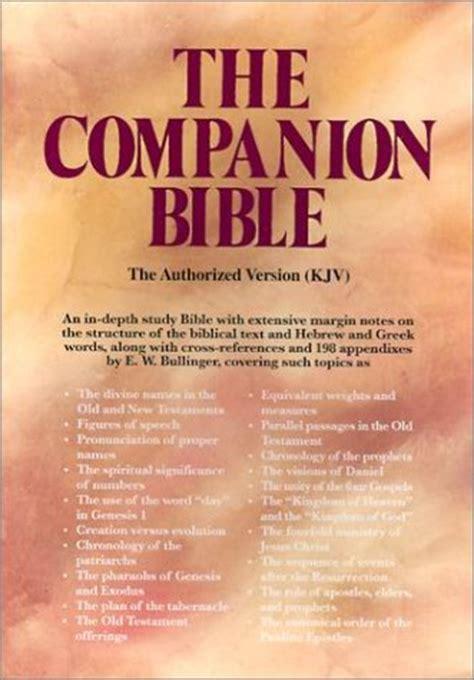 The Companion appendixes to the companion bible