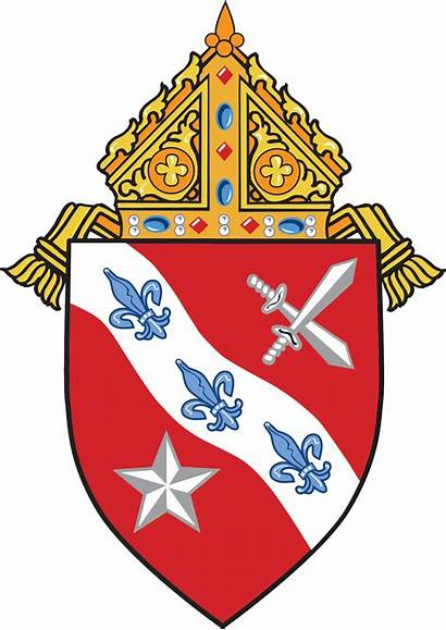 Diocese Catholic Dallas Arms Coat Roman Bishop