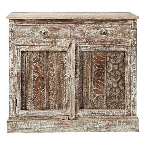 meuble indien maison du monde fashion designs buffet indien sculpté en bois recyclé l 95 cm karma