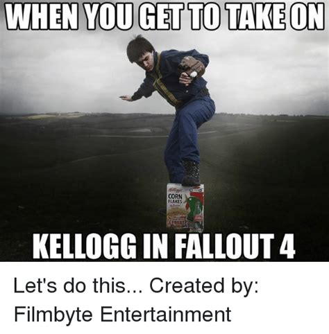 WHEN YOU GET TO TAKE ON CORN FLAKES KELLOGG IN FALLOUT 4