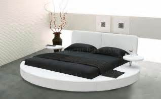 Queen Size Bunk Beds Ikea by Choice Of White Or Black Leatherette Round Bed W Side Shelves