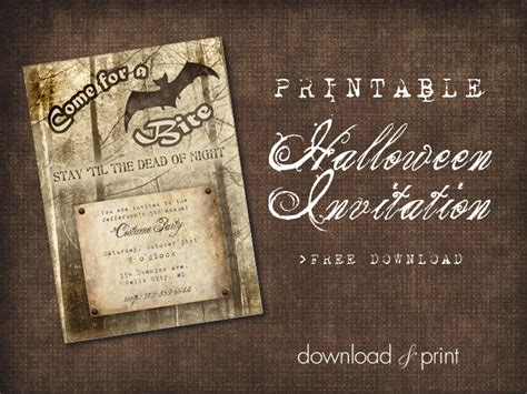printable halloween invitation