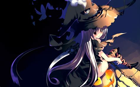 Anime Girl Witch Wallpaper Anime Halloween Wallpaper Wallpapersafari
